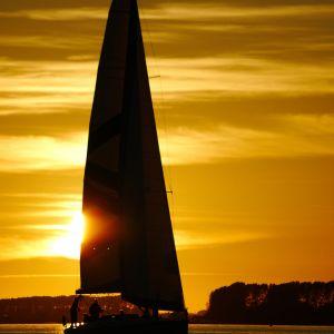 Strelasund vorm Wind